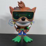 Crash Bandicoot with scuba gear